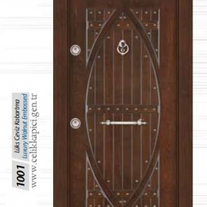 Lüks ceviz kabartma çelik kapısı